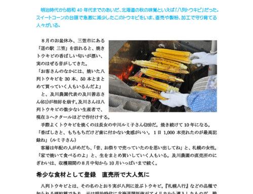 幻の八列トウキビを守る(『家の光』北海道版 13年11月号)